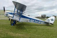 G-ACEJ @ EGBP - 1933 DH83 Fox Moth at Kemble on Great Vintage Flying Weekend