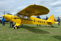 G-HACK @ EGBP - 1959 Piper PA-18-150 at Kemble on Great Vintage Flying Weekend