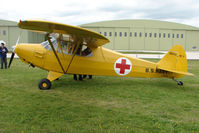 N203SA @ EGBP - 1943 Piper J5C at Kemble on Great Vintage Flying Weekend