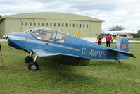 G-AWVB @ EGBP - 1957 Jodel D117 at Kemble on Great Vintage Flying Weekend