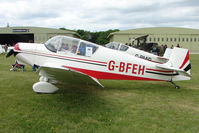 G-BFEH @ EGBP - 1958 Jodel D117A at Kemble on Great Vintage Flying Weekend