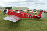 G-AEXT @ EGBP - 1937 Dart Kitten II at Kemble on Great Vintage Flying Weekend