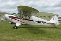 G-AWPW @ EGBP - 1947 Piper PA-12 at Kemble on Great Vintage Flying Weekend
