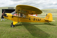 G-BVAF @ EGBP - 1940 Piper J3C-65 at Kemble on Great Vintage Flying Weekend