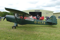 G-ALFA @ EGBP - 1944 Auster 5 at Kemble on Great Vintage Flying Weekend