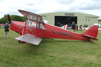 G-ADKC @ EGBP - 1936 DH87B Hornet Moth at Kemble on Great Vintage Flying Weekend