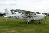 G-BRAK @ EGBP - Visiting Cessna 172N at Kemble on Great Vintage Flying Weekend