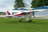 G-ARKS @ EGBP - Visiting Piper PA-22-108  at Kemble on Great Vintage Flying Weekend