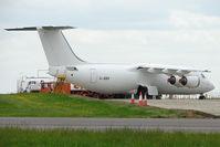 G-JEBV @ EGBP - Anonymous looking AVRO 146 awaiting next operator