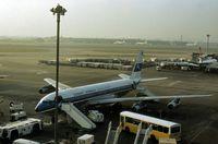 9K-ACK @ LHR - Boeing 707 of Kuwait Airways at the terminal at Heathrow in December 1977. - by Peter Nicholson