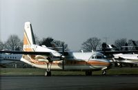 HZ-BOF @ LTN - Saudi Arabian F-27F Friendship parked at Luton in December 1977. - by Peter Nicholson