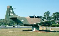 132598 - Douglas AD-5/A-1E Skyraider of USAF at Hurlburt Field historic aircraft park