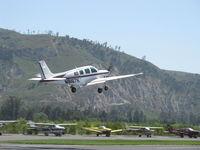 N8167K @ SZP - 1993 Beech B36TC Turbocharged Bonanza, Continental TSIO-520-UB 300 Hp continuous, takeoff climb Rwy 22 - by Doug Robertson