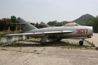 3637 - Shenyang J-5   Located at Datangshan, China - by Mark Pasqualino
