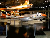A79-616 @ YMPC - De Havilland Vampire in the RAAF Museum Point Cook. Painted in the colours of the Telstars formation team.