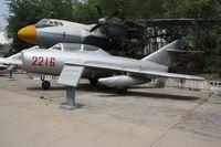 2216 - MiG-15UTI  Located at Datangshan, China - by Mark Pasqualino