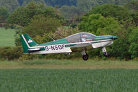 G-NSOF @ EGSP - Robin HR200 at Sibson