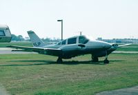 N15JP @ KBHM - Beagle B.206 Srs.2 sitting (without propelllers) on the edge of Birmingham Airport,