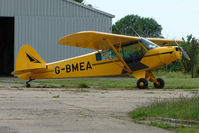 G-BMEA - 1953 Piper L18C parked at a rural Midlands airfield