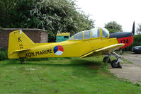 G-BEPV - 1950 Fokker S11-1 parked at a rural Midlands airfield