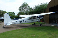 G-BEOD - Cessna 180 parked at a rural Midlands airfield