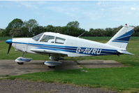 G-AVRU - Visiting Piper parked at a rural Midlands airfield