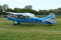 G-ARCS - 1960 Auster parked at a rural Midlands airfield