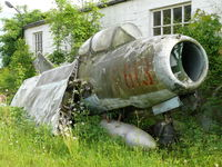 613 - Mikoyan Gurevich SB LIM-2/Mig15 Fagot 613 ex Polish Air Force stored in a bad shape stored at a Toyota dealer in Neuville - Belgium - by Alex Smit