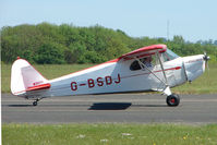 G-BSDJ @ EGBG - The Only Piper J4E on the British Register - at Leicester 2009 May Bank Holiday Fly-in