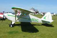 G-BDVC @ EGBG - Piper PA-17 at Leicester 2009 May Bank Holiday Fly-in