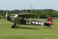 G-BMKC @ EGBD - 1943 Piper J3C at Derby Eggington