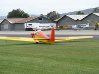 N1700F @ SZP - 1967 Sportavia-Putzer FOURNIER R.F.4.D motor-glider, Rectimo (VW) 4AR 1200 modified to 1,400 c.c. 40 Hp, taxi over grass - by Doug Robertson