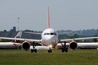 G-EZIY @ EGNX - AIRBUS A319 - by Paul Ashby