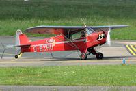 G-BZHU @ EGBJ - WAG-AERO Trainer at Gloucestershire Airport