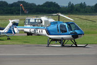 G-OZAR @ EGBJ - Enstrom 480 at Gloucestershire Airport