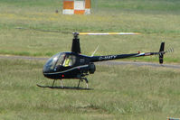 G-MATY @ EGBJ - Robinson R22  at Gloucestershire Airport