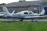 N902SR @ EGBJ - Cirrus SR22 at Gloucestershire Airport