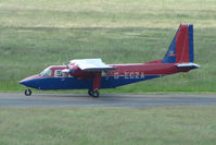 G-ECZA @ EGBJ - Ex Belgian Army BN2 Islander at Gloustershire Airport
