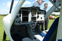 D-MPGB @ EGBD - Flight controls of the Remos GX demonstrator at Derby Eggington - by Terry Fletcher