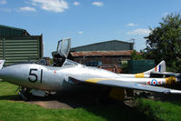 XD445 @ X3YF - Vampire at Abbots Bromley - by Terry Fletcher