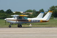 G-CEFM @ EGKA - Cessna 152 at Shoreham Airport - by Terry Fletcher