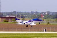N106TW @ CID - Departing Runway 27 - by Glenn E. Chatfield
