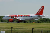 G-EZTE @ EGCC - Easyjet Airbus A320-214 - by Chris Hall