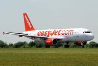 G-EZTE @ EGCC - Easyjet Airbus A320-214 - by Chris Hall