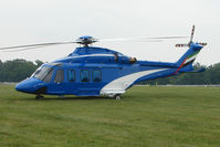 DU-139 - Dubai Air Wing's AW-139 brought in the Dubai Royal Family to the 2009 Epsom Derby horse race meeting - by Terry Fletcher