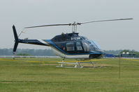 G-TCSM - one of the helicopters at Epsom on 2009 Derby Day