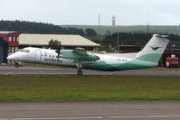 LN-WFP @ EGPD - Wideroe Dash 8 departs Aberdeen