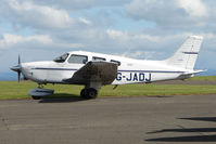 G-JADJ @ EGPT - at Perth Airport in Scotland