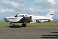 G-JADJ @ EGPT - at Perth Airport in Scotland