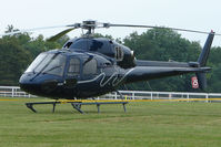 F-GMAX - French registered AS355N2 - One of the helicopters at Epsom on 2009 Derby Day